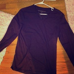 John Varvatos v neck long sleeve t shirt